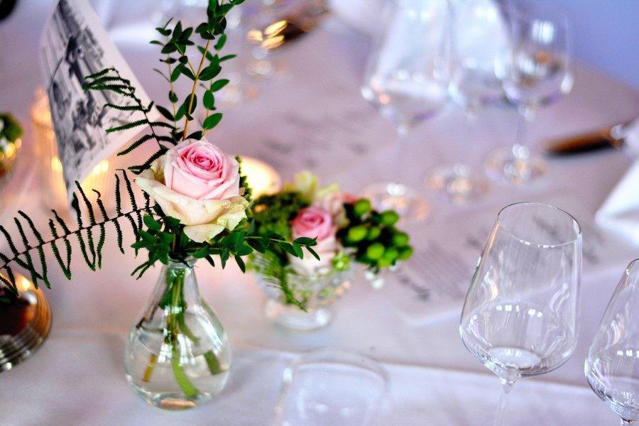 Dekoration für ein Gala-Dinner